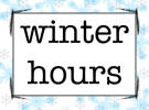 Winter Recycling Hours